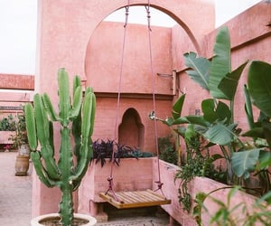 architecture, nature, and pink image