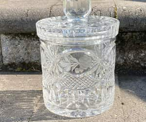 etsy, american brilliance, and lead crystal jar image