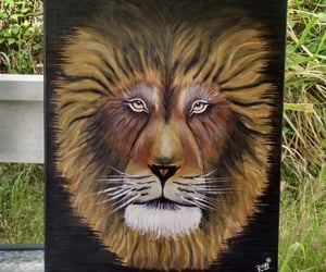 lion, gold lion, and lion painting image