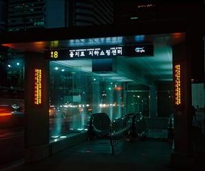 neon, dark, and japan image