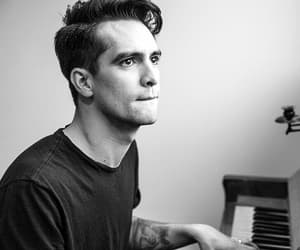 black and white, brendon urie, and handsome image