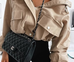 beige, black, and chanel image