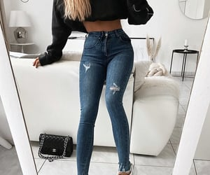 adidas, black, and chanel image