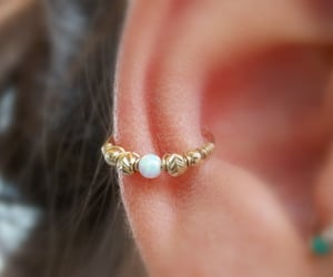 boho, conch, and gold image