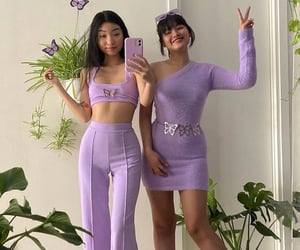 purple, fashion, and outfit image