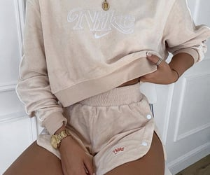 nike, beige, and clothes image