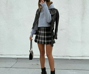 bag, black skirt, and glasses image