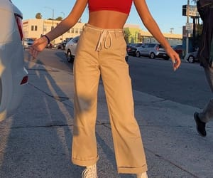 car, converse, and red crop top image