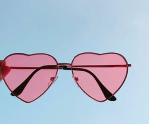 aesthetic, pink, and sunglasses image