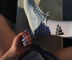 adidas, vans, and blue image