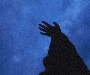 aesthetic, blue, and hand image