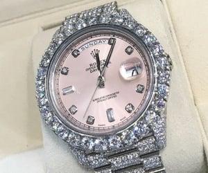watch, diamond, and rolex image