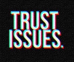 black, trust, and words image