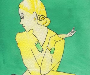 green, vintage, and watercolor image