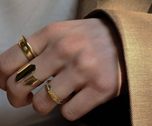 accessory, fashion, and gold image