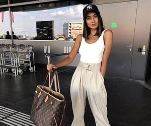 bag, travel, and beautiful girl image