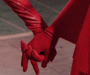 red, aesthetic, and hands image