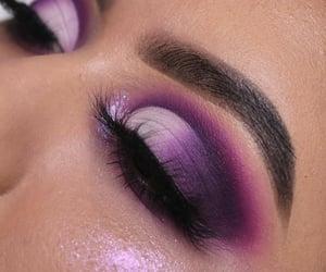 fashion, purple make up, and makeup image