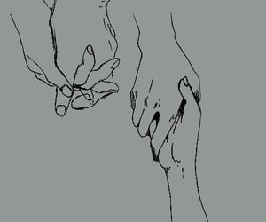 draw, hands, and gray image