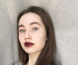 beautiful, brown hair, and eyebrows image