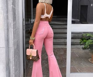 fashion, pink, and hat image