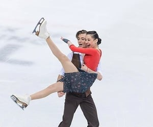 bonnie and clyde, couple, and figure skating image