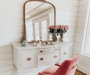 decor, mirror, and style image