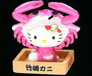 crab, hello kitty, and cute image