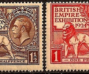crown, lion, and uk stamps image