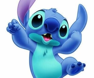 blue, cute, and stich image