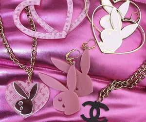 pink, Playboy, and Louis Vuitton image