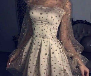 prom dress and golden dress image