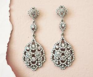 bridal jewelry, chandelier earrings, and wedding earrings image