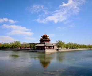architecture, Forbidden city, and lake image