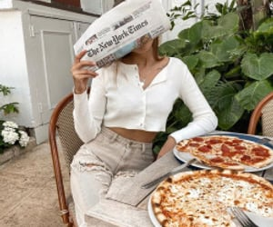 pizza, food, and fashion image
