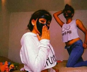 amigas, bff, and mask image