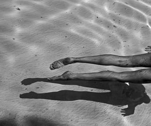 legs, black and white, and summer image