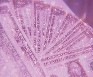 money, glitter, and aesthetic image