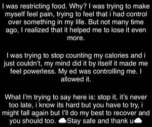 bulimia, eating disorder, and ana image