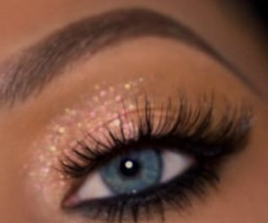 beauty, eyelashes, and glitter image