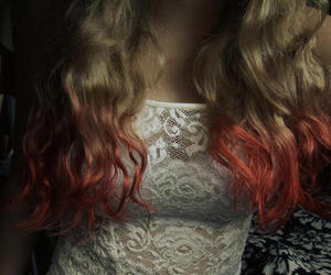 blond hair, ombre, and colour hair image