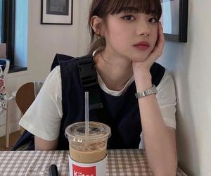 asian, coffee, and girl image