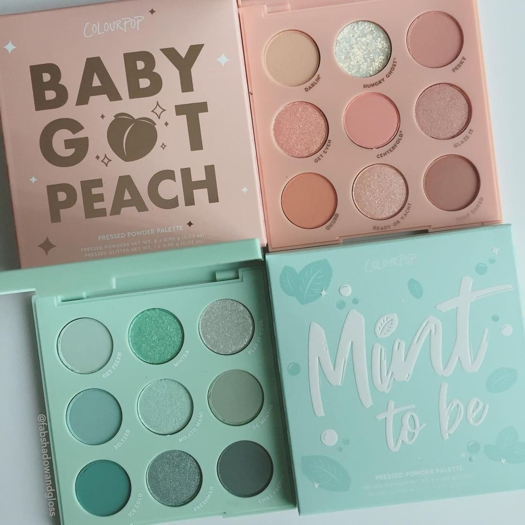 makeup, mint, and peach image