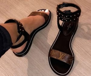 sandals, shoes, and Louis Vuitton image