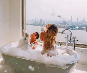 bath, happiness, and bubble image