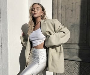 outfit, fashion, and beige image