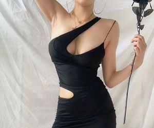 aesthetic, k fashion, and black image