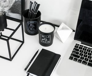 black and white, coffee, and candles image