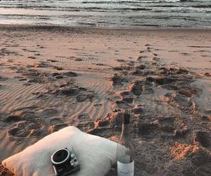 beach, beautiful, and evening image