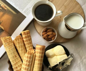 almond, butter, and coffee image